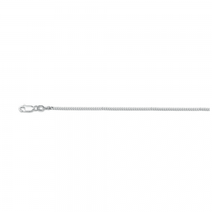 114 S Silver gourm. chain 1.7mm