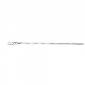 116 S Zilver gourm. ketting 2.4mm